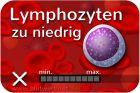 Lymphozyten vermindert