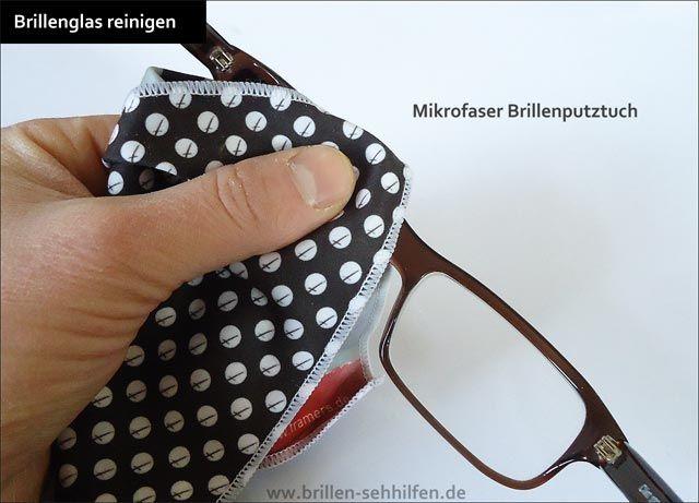 Brille richtig putzen