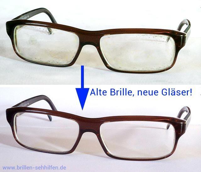 Neu verglaste Brille