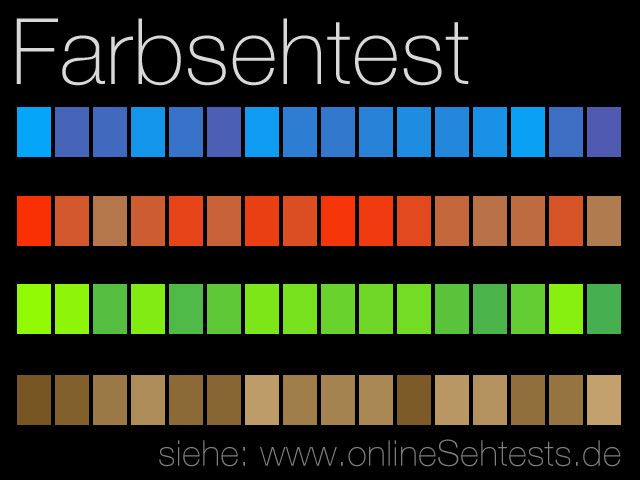 Farbsehtest Online