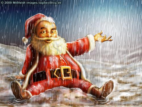 Weihnachtsmann Pitschnass