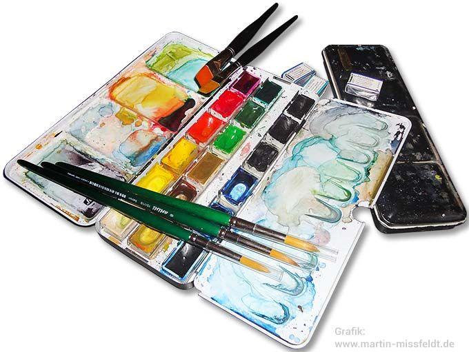 Aquarellfarben Set